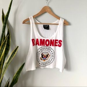 Ramones Band Cropped Muscle Tank Top